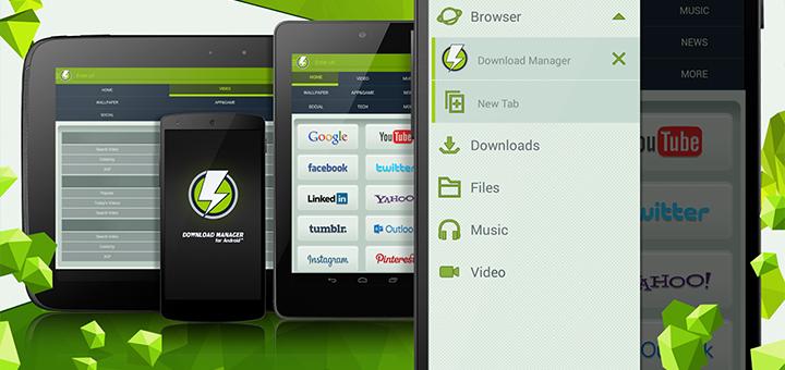 download manager descargar videos facebook android